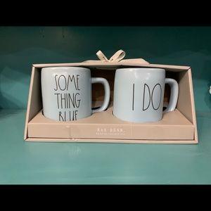 Rae Dunn Something Blue & I Do mugs.
